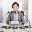 Businesswoman Giving Speech — Stock Photo #39412905