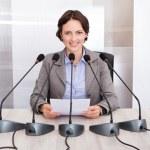 Businesswoman Giving Speech — Stock Photo