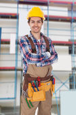 Confident worker wearing toolbelt — Stock Photo