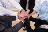Businesspeople Stacking Their Hands — Stock Photo