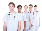 Doctors And Nurses Standing In A Row — 图库照片