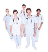 Group Of Doctors Looking Up — 图库照片