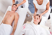 Young Couple Enjoying Massage — Stock Photo