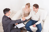 Consultant Shaking Hand With Customer — Stock Photo