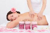 Woman Getting Massage Treatment — Stock Photo