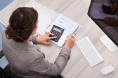 Female Accountant — Stock Photo