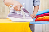 Maid Ironing Clothes — Stock Photo
