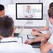 Doctors Watching Online Presentation — Stock Photo #40086301