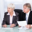 Two Business People Working Together — Stock Photo