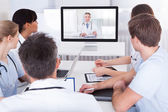 Doctors Watching Online Presentation — Stock Photo