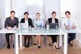 Businesspeople Sitting In Conference — Stock fotografie