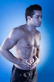 Homem tenha dor de estômago — Foto Stock