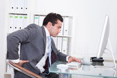 Businessman Suffering From Back Pain — Stock Photo