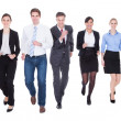 Stock Photo: Group Of Businesspeople Running