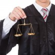 Judge With Scales — Stock Photo