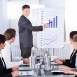 Stock Photo: BusinessmExplaining Graph
