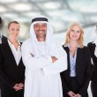 Arabic Man With Businesspeople — Stock Photo