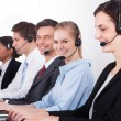 Stock Photo: Businesspeople in Headset