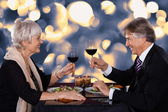 Senior Couple In A Restaurant — Stock Photo