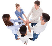People Stacking Hand — Stock Photo