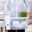Businessperson Carrying Office Supply — Stock Photo