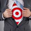 Businessman Showing A Target Under Shirt — Stock Photo