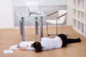 Businesswoman Fainted On Floor — Stock Photo