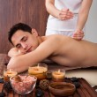 Relaxed Man Receiving Shoulder Massage In Spa — Stock Photo