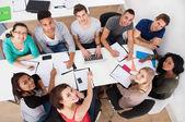 University Students Doing Group Study — Stock Photo