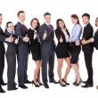 Business people showing thumbs up sign — Stock Photo #43674293