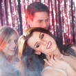 Women Dancing With Friends At Nightclub — Stock Photo #43674623