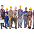 Large group of diverse workers — Stock Photo