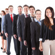 Business people standing in row — Stock Photo #43675367