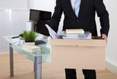 Businessman moving offices — Stock Photo