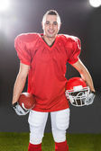 Portrait Of Smiling American Football Player — Stockfoto