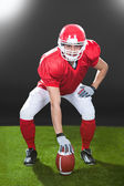 Confident American Football Snapper On Field — Stock Photo