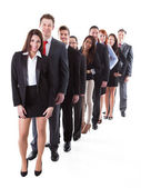 Business people standing in row — Foto de Stock
