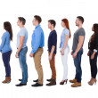 Diverse group of people standing in row — Stock Photo #44069107