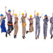 Large diverse group of workmen and women — Stock Photo