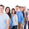 Diverse group of people standing in row — Stock Photo #44069811