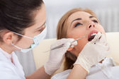 Young Woman Having Dental Checkup — Stockfoto