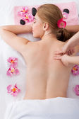 Woman Getting Massage Treatment — Stock Photo