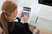 Young Businesswoman Working At Desk — Stock Photo