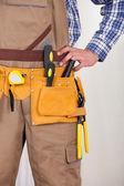 修理工を着てツール ベルト — ストック写真