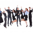 Large group of excited business people — Stock Photo #44070389
