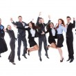 Large group of excited business people — Stock Photo