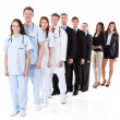 Doctors and managers standing in row — Stock Photo #44070765