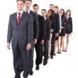 Business people standing in row — Stock Photo #44071157