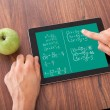 Student Solving Math's Problem On Digital Tablet — Stock Photo