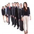 Business people standing in row — Stock Photo #44071481